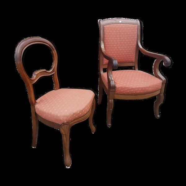 Duo fauteuil et chaise