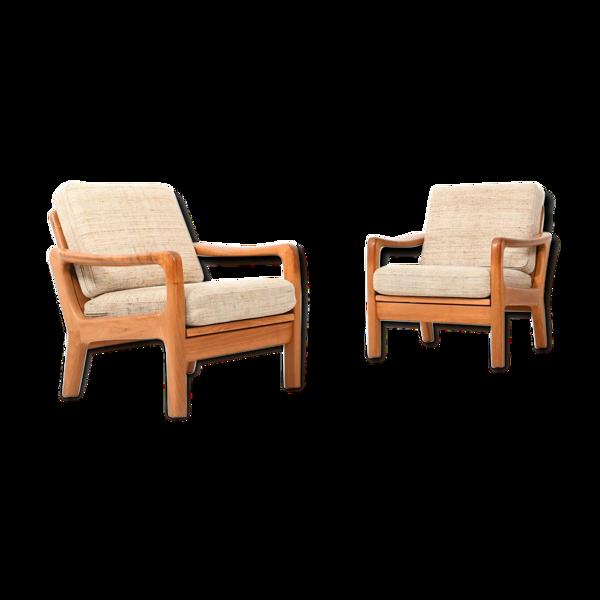 Paire de fauteuils de Jens-Juul Christensen pour JK Danemark