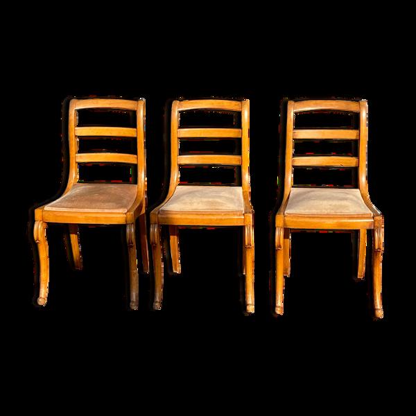Selency Suite de six chaises d'époque restauration XIX eme siècle