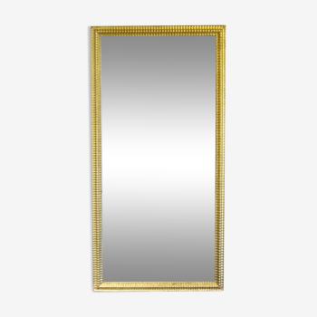 Miroir en stuc doré à la feuille d'or, H 152 cm
