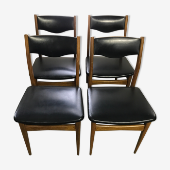 Serie de 4 chaises scandinaves