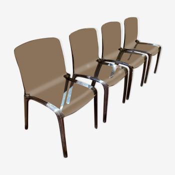 Lot de 4 chaises Kartell