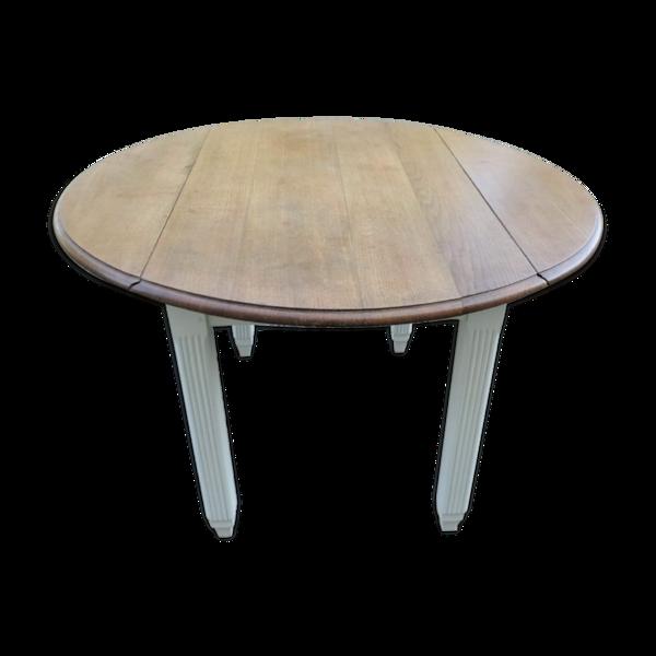Selency Table ronde en chêne massif 1930