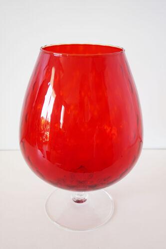 Vase italien Empoli rouge 1950