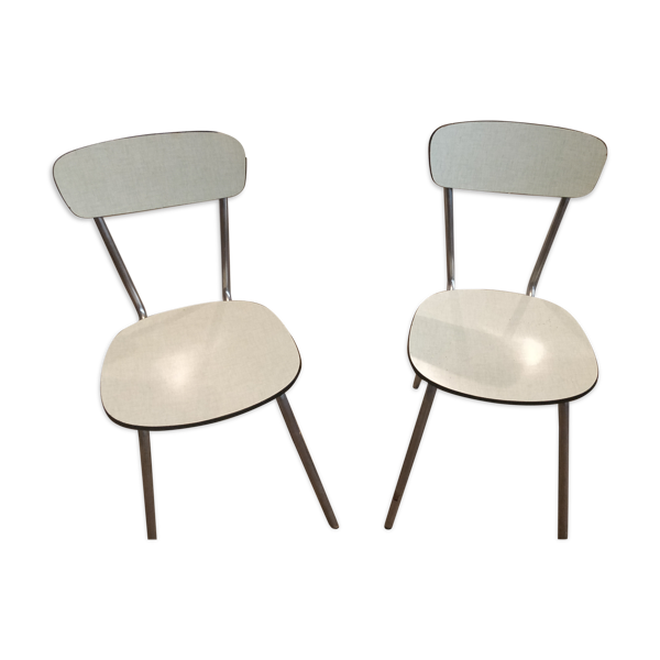 Lot de 2 chaises formica