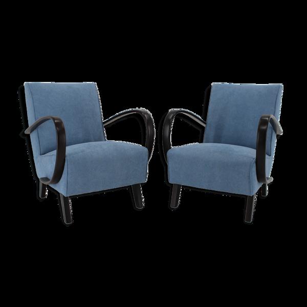 Selency Paire de fauteuils Jindrich Halabala, Tchécoslovaquie 1950