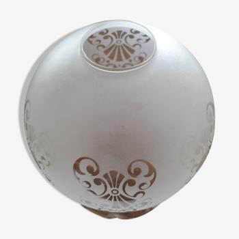 Globe art deco à motifs