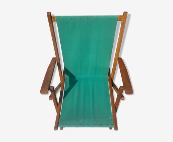 Chaise de jardin vintage en bois