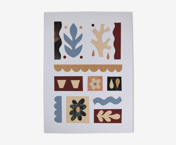 Les Terrasses - illustration collage