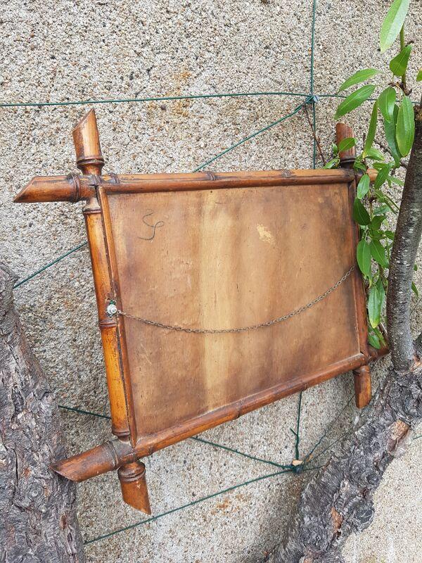 Miroir bois effet bambou époque 1920 55cm x 44cm