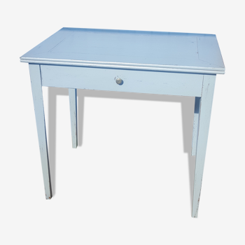 Table de ferme patine  bleue ciel