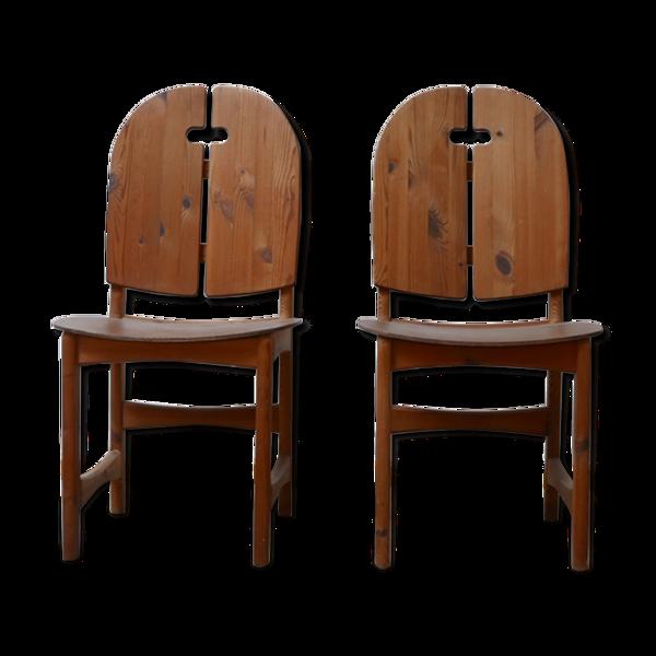 Selency Paire de chaises suédoises en pin