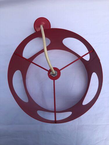 Vintage 70 metal suspension painted red