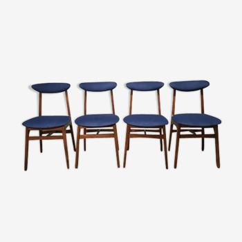 Ensemble de 4 chaises vintage par R. Hałas 1960