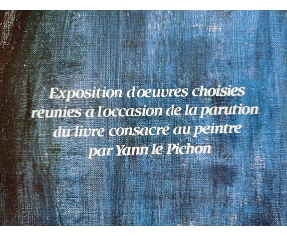 Affiche expo Bernard Buffet à la galerie Christiane Vallé 1986