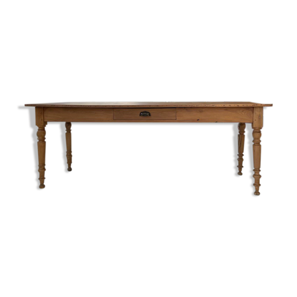 Selency Table de ferme bistrot merisier 2m