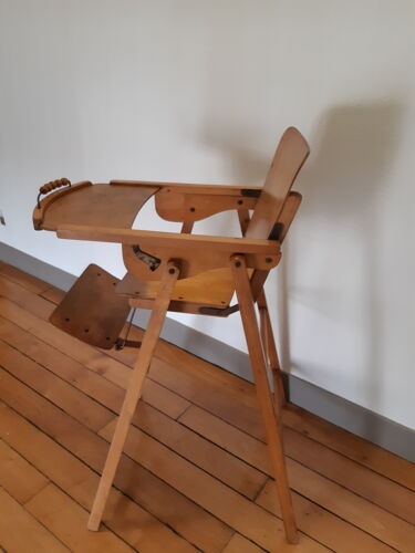 Chaise haute pliante vintage