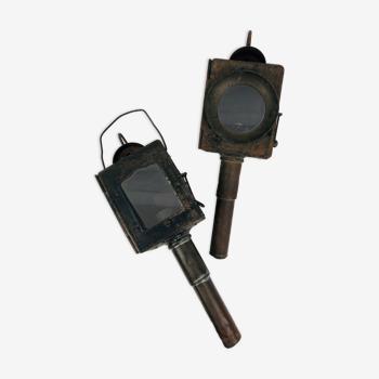 Lampes de fiacre en fer XIXème