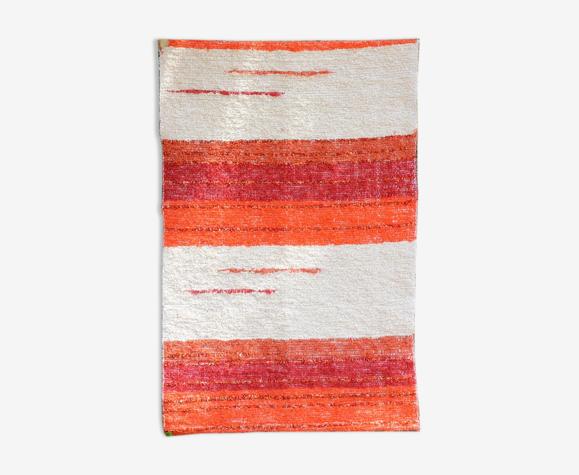 Tapis - orange & blanc - 65 x 120 cm