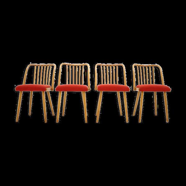 Lot de 4 chairs d'Antonín Šuman années 1960
