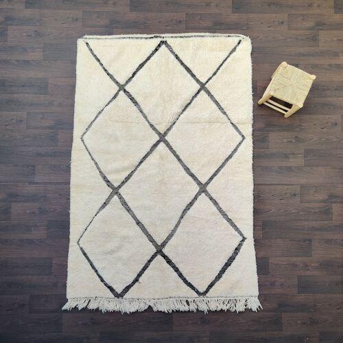 Tapis berbere beni ouarain motifs creux 170x255 cm