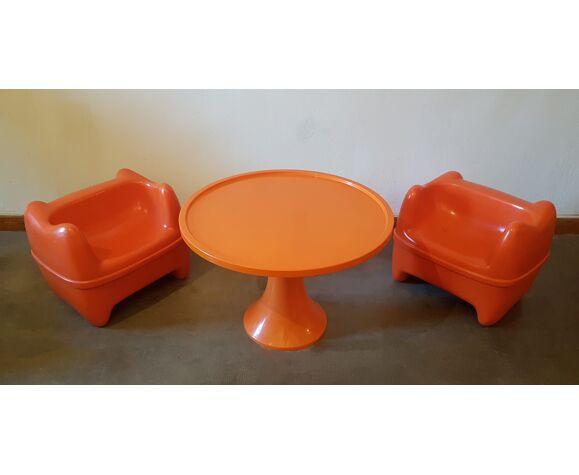 Salon enfants comprenant 2 fauteuils Zorro pour Meurop