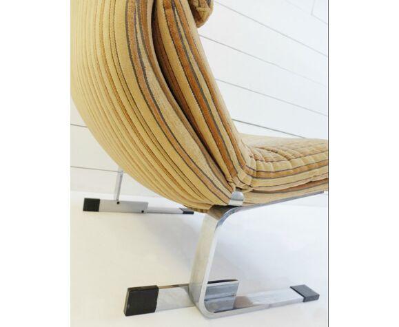 Paire de fauteuils Onda Wave de Giovanni Offredi pour Saporiti