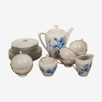 Coffee set from the former gdr, veb reichenbach china porcelain for 6 persons 1960s
