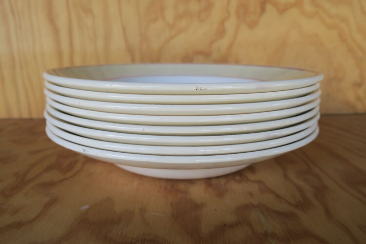 8 assiettes creuses Gien France