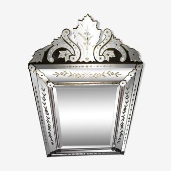 Miroir vénitien à fronton venise Huge Venitian 130x84cm