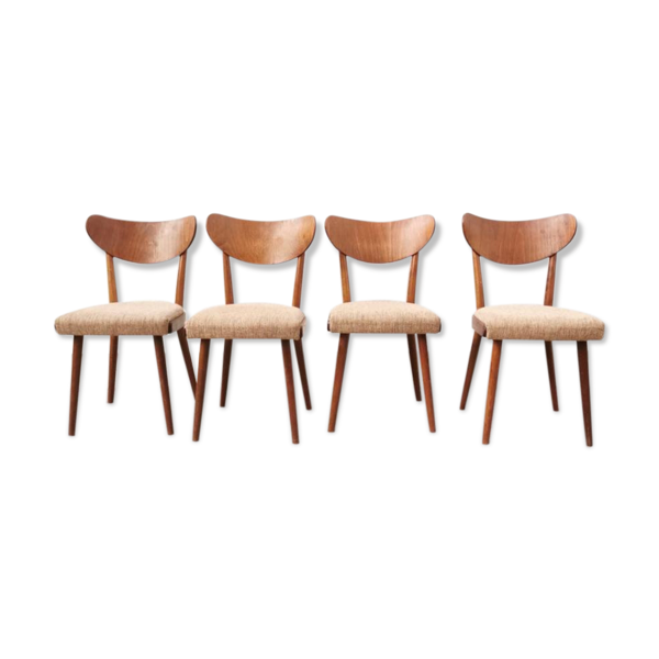 Série de 4 chaises rétro