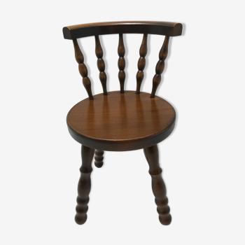 Chaise enfant ancien bois tourné
