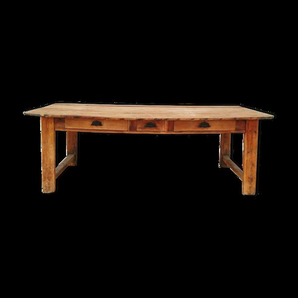 Selency Table de ferme en mélèze XIXème