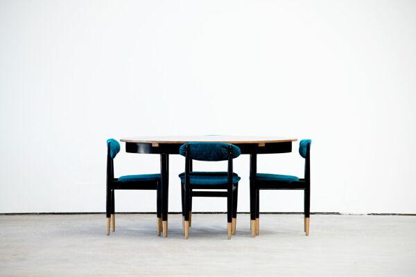 Ensemble table et 4 chaises scandinave vintage 1960
