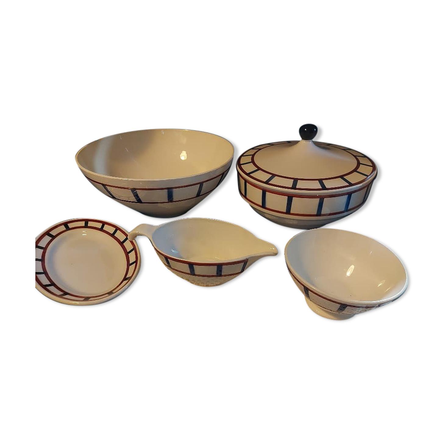 Ensemble art de la table Digoin, Manufacture Sarguemines