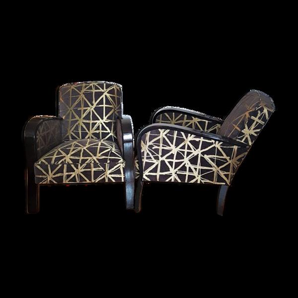 Paire de fauteuils art déco
