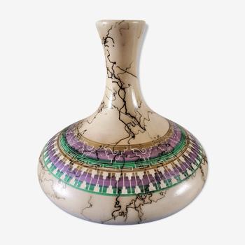 Céramique vase années 50 - 60 signature à identifier