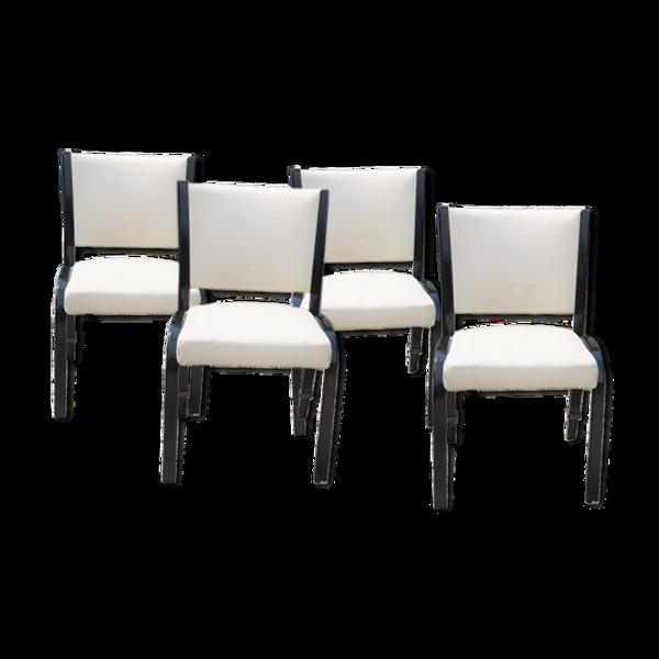 Lot de 4 chaises Steiner années 50