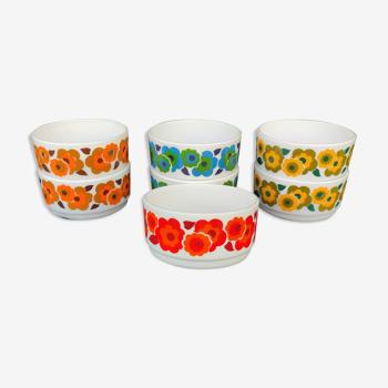Set de 7 coupelles Arcopal vintage