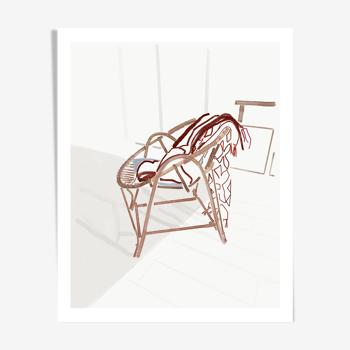 Illustration chaise, édition limitée Annabel Briens