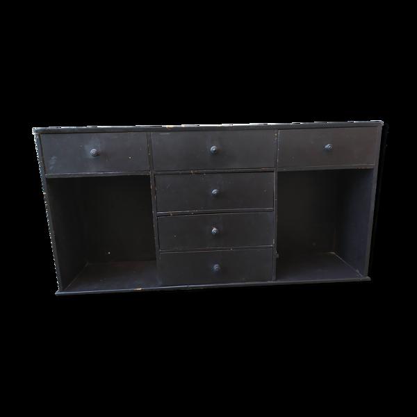 Meuble à tiroirs noir