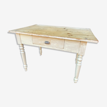 Vintage fir farm table