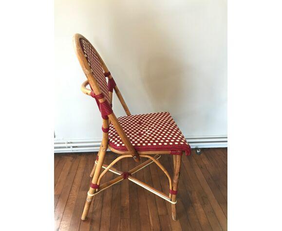 Chaise bistrot rotin et tressage