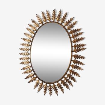 Miroir métal doré 95x76cm