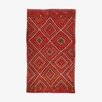 Tapis kilim anatolien fait à la main 270 cm x 153 cm