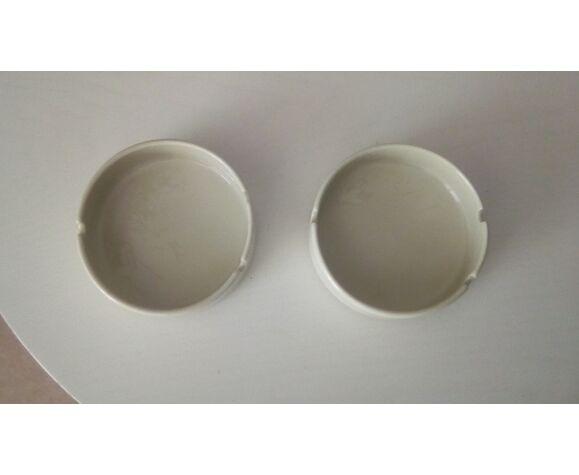 Paire de cendriers vintage en porcelaine