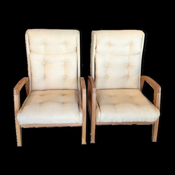 Paire de fauteuils Steiner
