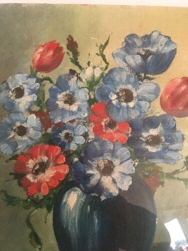 Peinture vase de fleurs