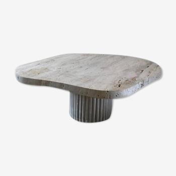 Table basse irrégulière travertin naturel