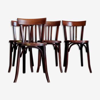 Chaises anciennes de bistrot en bois